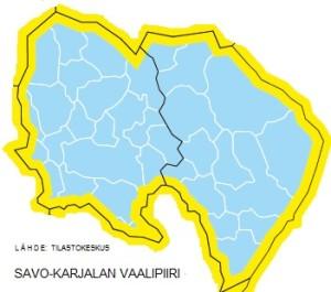 UUSI SAVO-KARJALAN VAALIPIIRI (Lähde: Tilastokeskus).